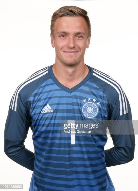 Christian Fruechtl poses during the U19 Germany Team Presentation on September 5 2018 in Raunheim Germany