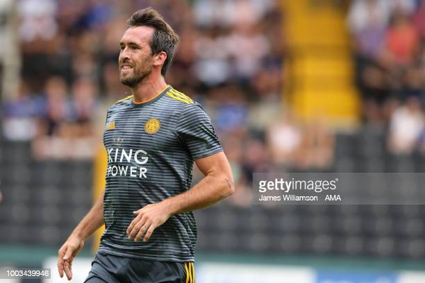 Christian Fuchs of Leicester City during the preseason match between Notts County and Leicester City at Meadow Lane on July 21 2018 in Nottingham...