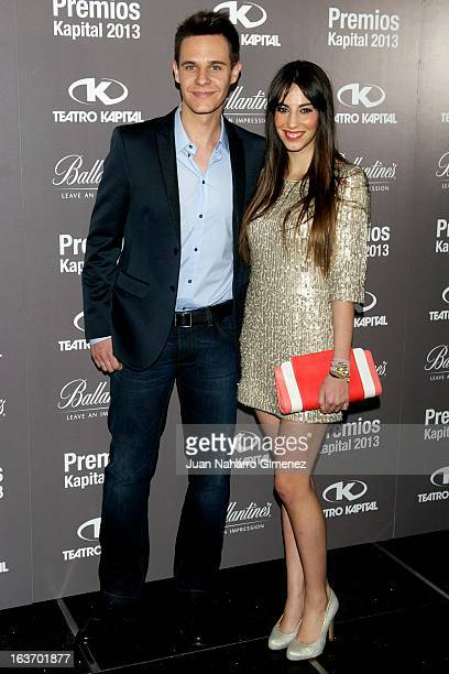 Christian Galvez and Almudena Cid attend the XI Teatro Kapital Awards at Teatro Kapital on March 14 2013 in Madrid Spain