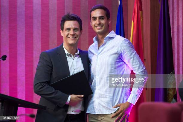 Christian Galvez and Lorenzo Diaz attend the Concha Garcia Campoy awards 2018 on June 26 2018 in Madrid Spain