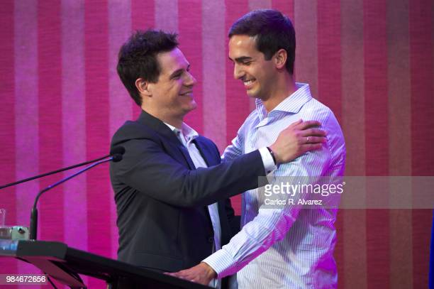 Christian Galvez and Lorenzo Diaz Garcia attend the Concha Garcia Campoy awards 2018 on June 26, 2018 in Madrid, Spain.
