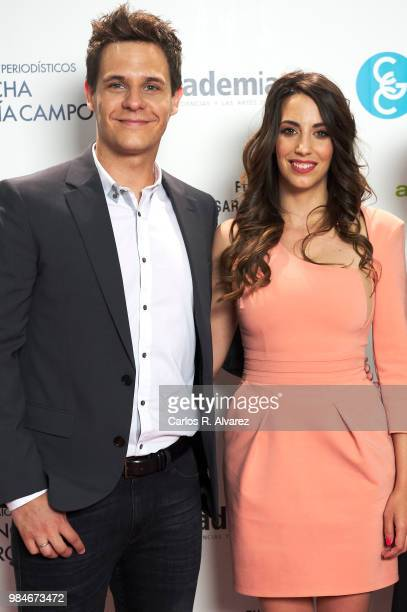 Christian Galvez and wife Almudena Cid attend the Concha Garcia Campoy awards 2018 on June 26 2018 in Madrid Spain