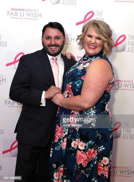 Christian Garnett and Emily Garnett attend The Pink Agenda's Annual Gala at Tribeca Rooftop on October 11 2018 in New York City