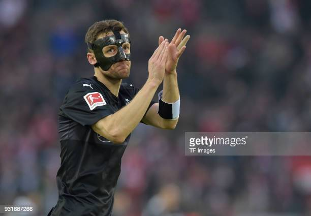 Christian Gentner of Stuttgart gestures during the Bundesliga match between 1 FC Koeln and VfB Stuttgart at RheinEnergieStadion on March 4 2018 in...