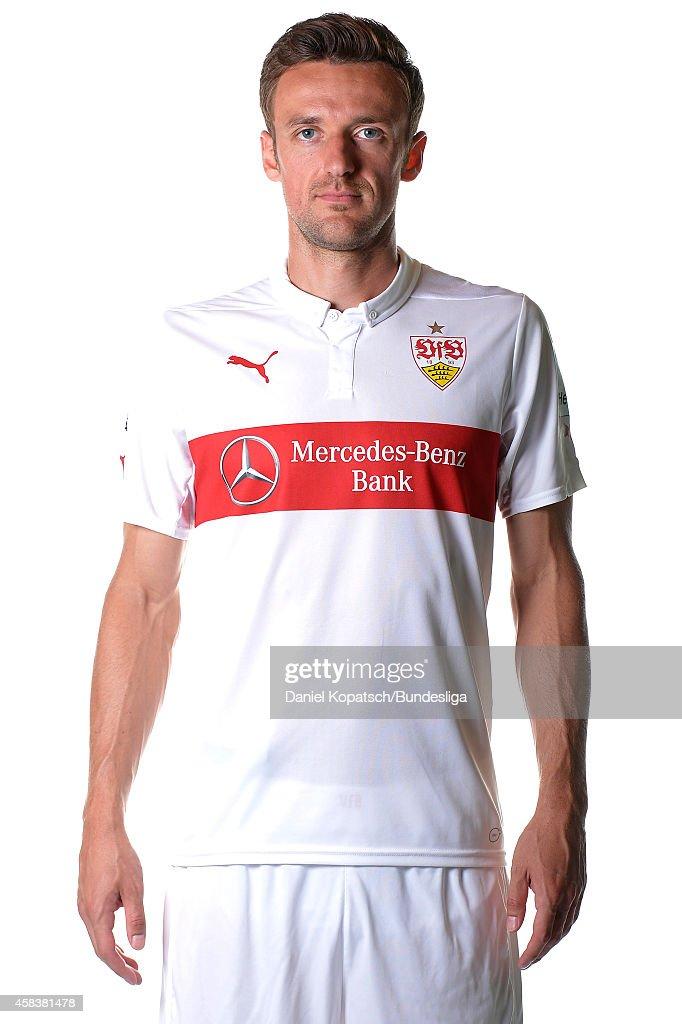Christian Gentner poses during the VfB Stuttgart Media Day on July 24, 2014 in Stuttgart, Germany.