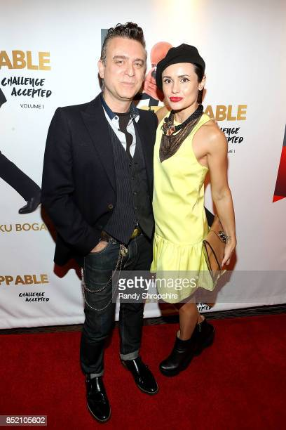 Christian Georgescu and Sandy Duarte attend 'Unstoppable' Tariku Bogale book launch on September 22 2017 in West Hollywood California