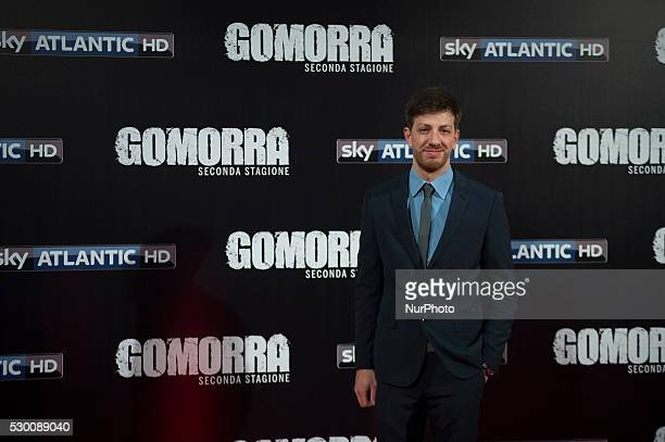 Christian Giroso attends the 'Gomorra 2 - La serie' on red carpets at The Teatro dell'Opera in Rome, Italy on May 10, 2016.