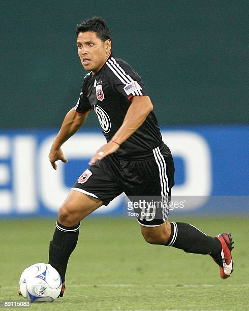 Christian Gomez D.C United picks up a pass during an MLS match against the Colorado Rapids at RFK Stadium on July 18, 2009 in Washington, DC. United...