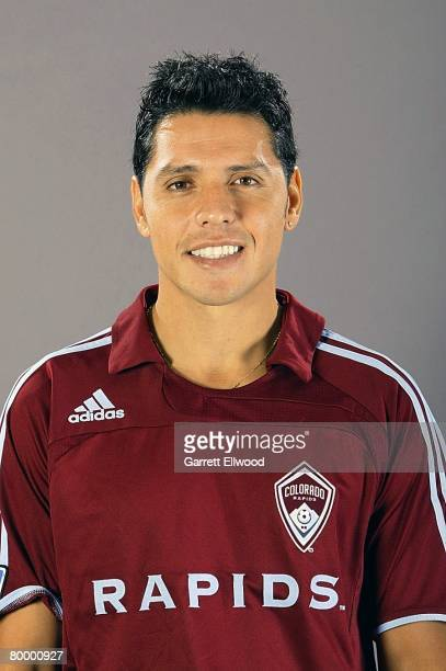 Christian Gomez of the Colorado Rapids poses for a photo on February 7 2008 at the Pepsi Center in Denver Colorado