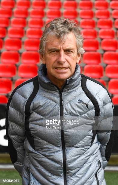 Christian Gourcuff / Entraineur during photoshooting of Stade Rennais for new season 2017/2018 on September 19 2017 in Rennes France