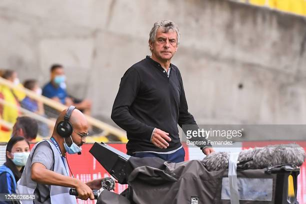 Christian GOURCUFF head coach of Nantes during the French Ligue 1 Soccer match between FC Nantes and AS Saint-Etienne at Stade de la Beaujoire on...