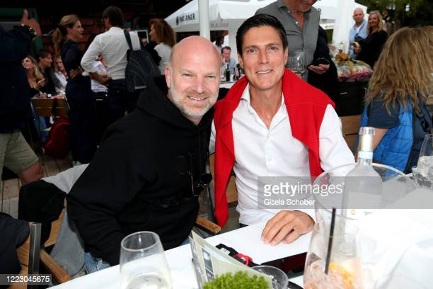 Christian Gries and Marcus Hoefl during the first Ladies Day and start of the Queens Club hosted by Maria HoeflRiesch on June 26 2020 at Berggasthof...