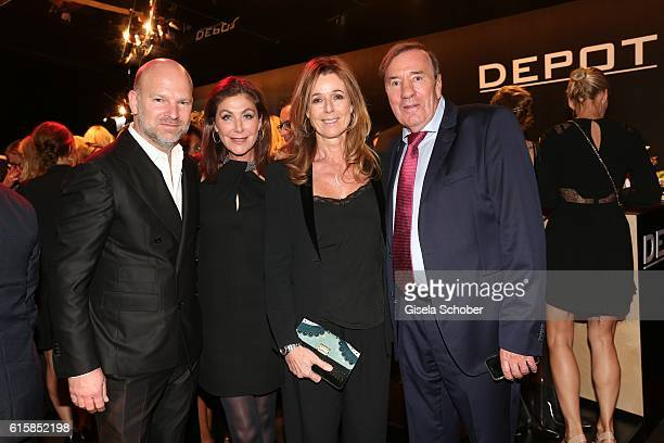 Christian Gries CEO Depot Alexandra von Rehlingen Andrea Schoeller Frank Fleschenberg during the Tribute To Bambi after show party at Station on...
