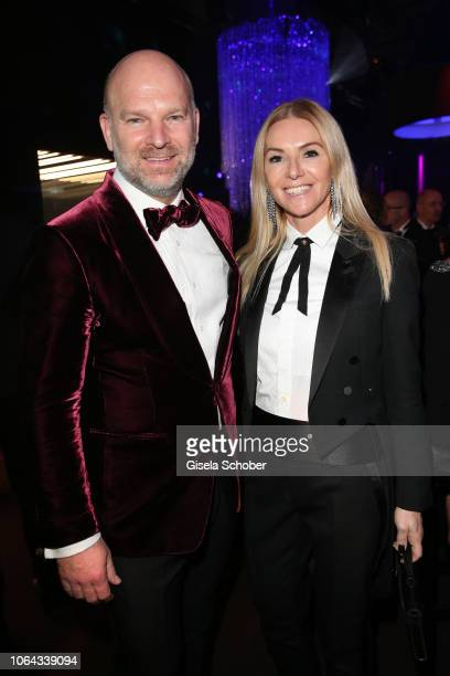 Christian Gries CEO Depot and his wife Sandra Gries during the Bambi Awards 2018 after party at Stage Theater on November 16 2018 in Berlin Germany