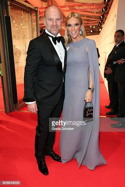 Christian Gries CEO Depot and his wife Sandra Gries during the Bambi Awards 2016 arrivals at Stage Theater on November 17 2016 in Berlin Germany