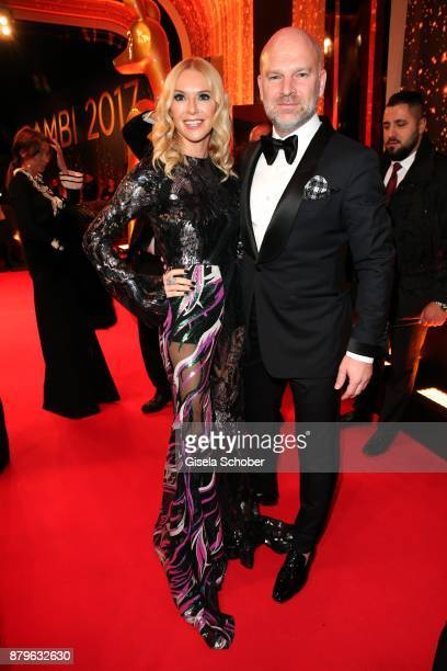Christian Gries CEO Depot and his wife Sandra Gries during the Bambi Awards 2017 at Stage Theater on November 16 2017 in Berlin Germany