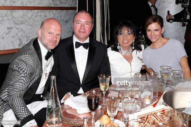 Christian Gries Ralph Dommermuth Regine Sixt and Judith Dommermuth attend the amfAR Gala Cannes 2017 at Hotel du CapEdenRoc on May 25 2017 in Cap...