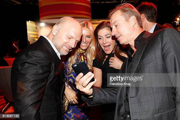 Christian Gries Sandra Gries Alexandra von Rehlingen and Nils Behrens attend the Tribute To Bambi at Station on October 6 2016 in Berlin Germany