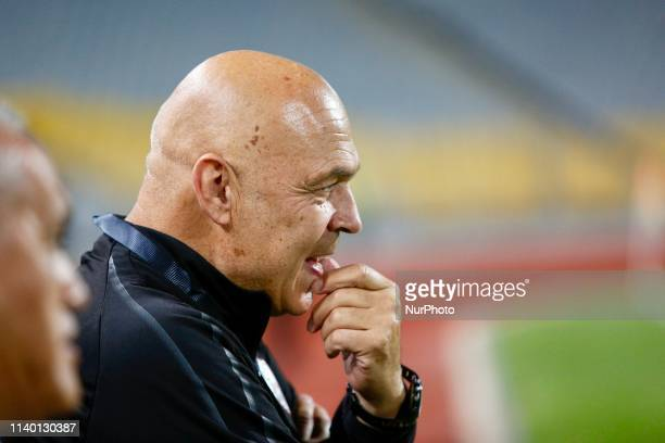 Christian Gross Zamalek coach before match start during the CAF Confederation Cup semi-final football match between Zamalek vs Etoile du Sahel at the...