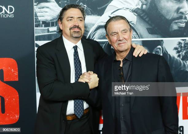 Christian Gudegast and Eric Braeden arrive to Los Angeles premiere of STX Films' Den Of Thieves held at Regal LA Live Stadium 14 on January 17 2018...