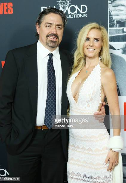 Christian Gudegast and guest arrive to Los Angeles premiere of STX Films' 'Den Of Thieves' held at Regal LA Live Stadium 14 on January 17 2018 in Los...