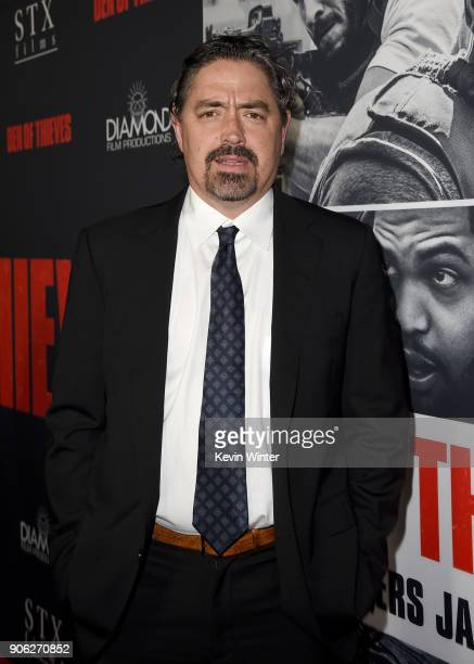 Christian Gudegast attends the premiere of STX Films' Den of Thieves at Regal LA Live Stadium 14 on January 17 2018 in Los Angeles California