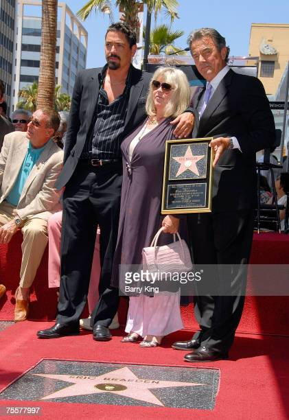 Christian Gudegast Dale Gudegast and Actor Eric Braeden attend the Eric Braeden Walk of Fame Star Ceremony held on Hollywood Boulevard on July 20...