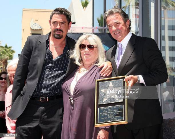 Christian Gudegast Dale Gudegast and actor Eric Braeden pose as Braeden is honored with the 2342th Star on the Hollywood Walk of Fame on July 20 2007...