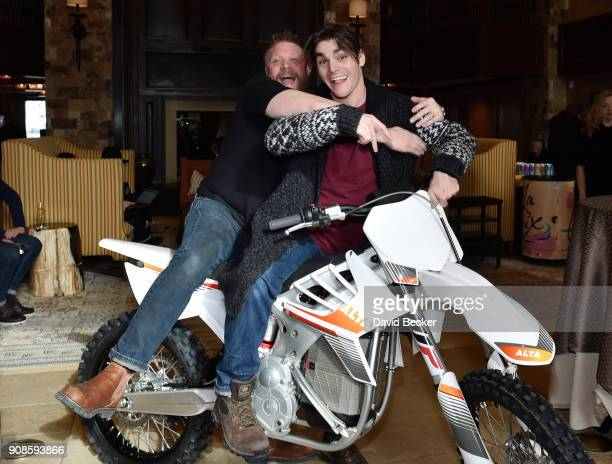 Christian Hansen and actor RJ Mitte attend the Gamechanger Films reception at the RAND Luxury Escape during the 2018 Sundance Film Festival at The St...