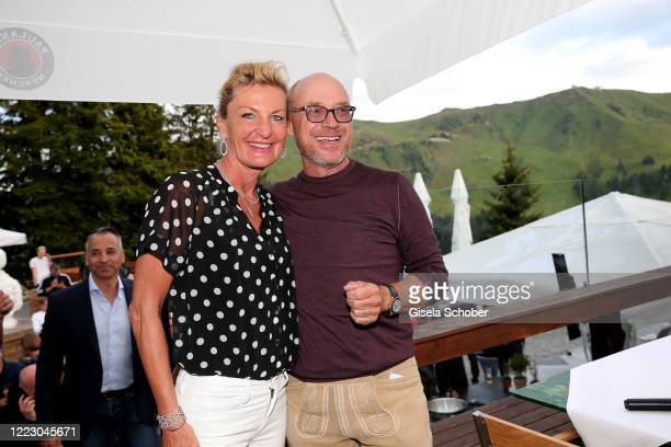 """Christian Harisch and his wife Anita Harisch during the first Ladies Day and start of the """"Queens Club"""" hosted by Maria Hoefl-Riesch on June 26, 2020..."""