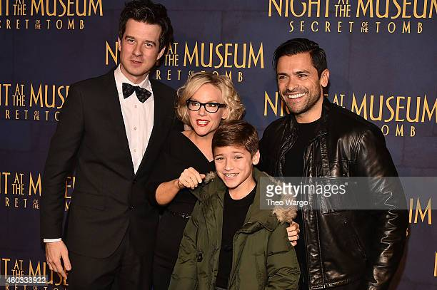 "Christian Hebel, actress Rachael Harris, and Mark Consuelos attend the ""Night At The Museum: Secret Of The Tomb"" New York Premiere at Ziegfeld..."