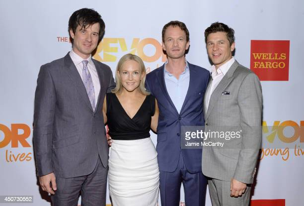 Christian Hebel Rachael Harris Neil Patrick Harris and David Burtka attend the Trevor Project's 2014 'TrevorLIVE NY' Event at the Marriott Marquis...