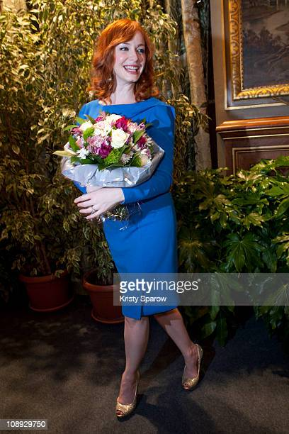 Christian Hendricks attends the award ceremony of Matthew Weiner who received the Vermeil Medal of the City of Paris at Mairie de Paris on February...