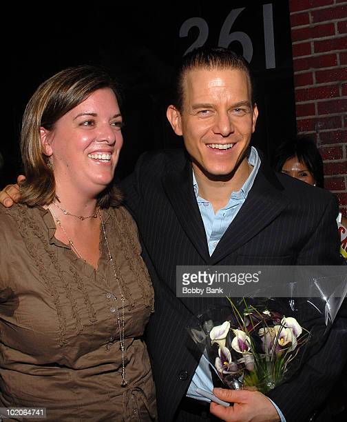 Christian Hoff with fans at his final performance as Tommy DeVito in Jersey Boys at the August Wilson Theatre on September 28 2008 in New York City