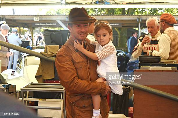 Christian Horner and daughter Olivia attend day 3 of the Goodwood Revival at Goodwood on September 11 2016 in Chichester England