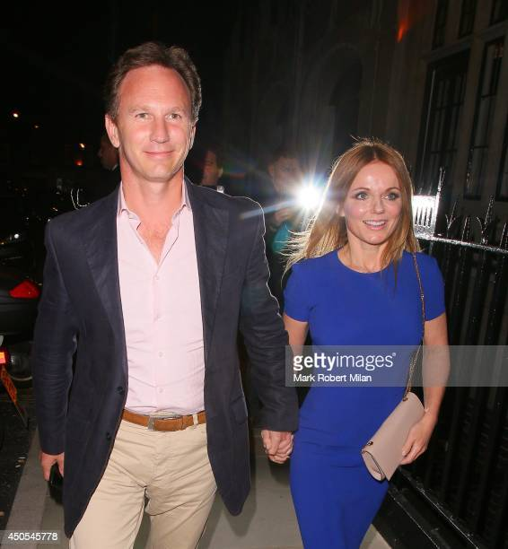 Christian Horner and Geri Halliwell at the Chiltern Firehouse on June 12 2014 in London England