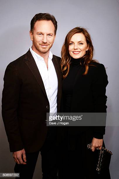 Christian Horner and Geri Horner attend the F1 Zoom Auction in aid of the renowned Great Ormond Street Hospital at InterContinental Park Lane Hotel...