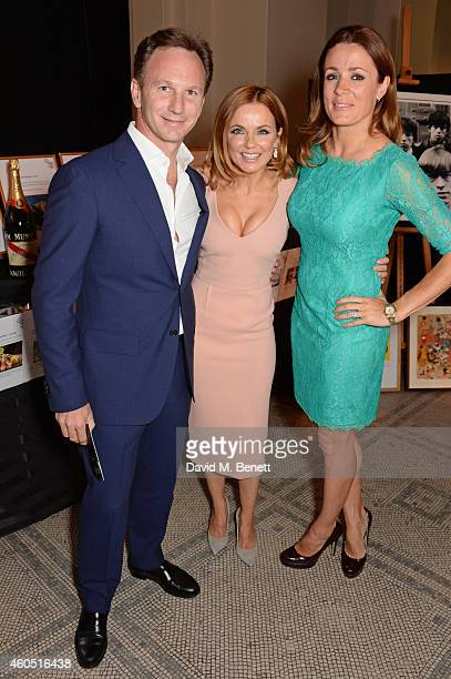 Christian Horner Geri Halliwell and Natalie Pinkham attend The F1 Party in aid of the Great Ormond Street Children's Hospital at the Victoria and...
