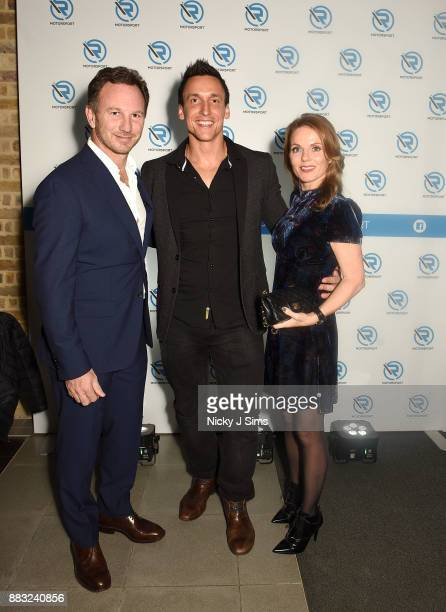 Christian Horner Nejc Hojc Geri Horner attend the R Motorsport Launch at the Serpentine Magazine Gallery on November 30 2017 in London England