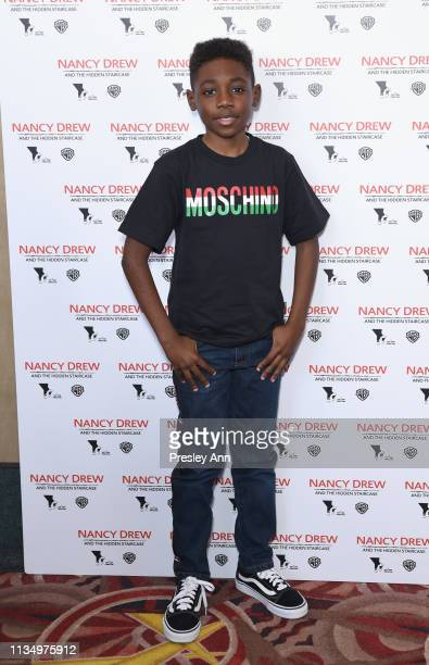 Christian Isaiah attends the red carpet premiere of 'Nancy Drew and the Hidden Staircase' at AMC Century City 15 on March 10 2019 in Century City...