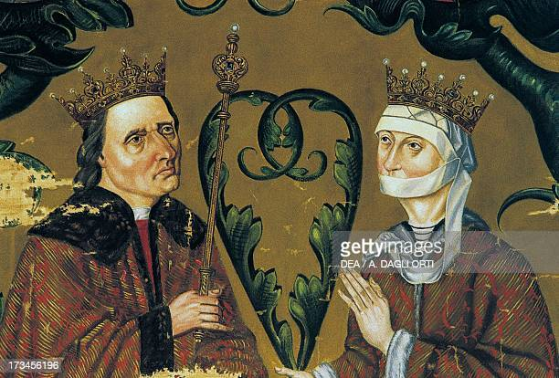 Christian IV and his wife Dorothy detail from the family tree of the House of Denmark Nyborg Castle Nyborg Denmark