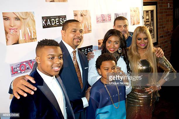 Christian Jackson Mark Jackson Mark Jackson Jr Heavyn Jackson Micah Jackson and Desiree Coleman attend the Private Listening Party For Kadesh aka...