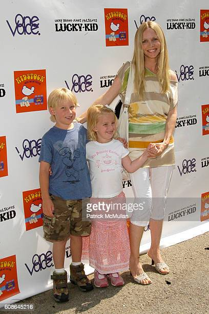 Christian James Martin, Samantha Lee Martin and Lauralee Bell attend Hollywood and Fashion Unite for the Kidstock Music and Art Festival at Greystone...