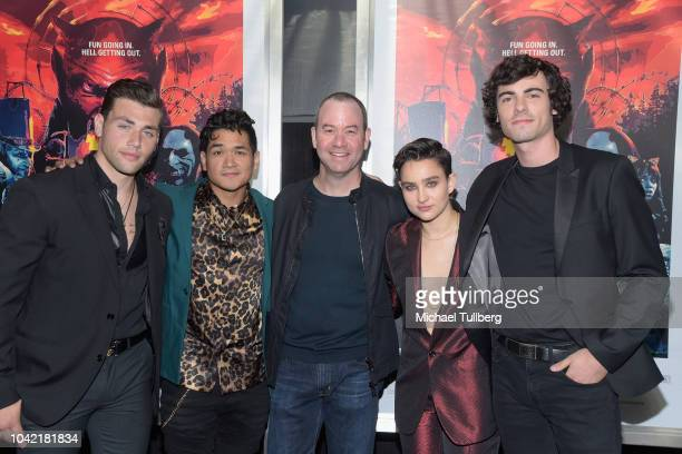 Christian James Matt Mercurio Greg Plotkin Bex TaylorKlaus and Roby Attal attend a special screening of CBS Films and Lionsgate's Hell Fest at TCL...