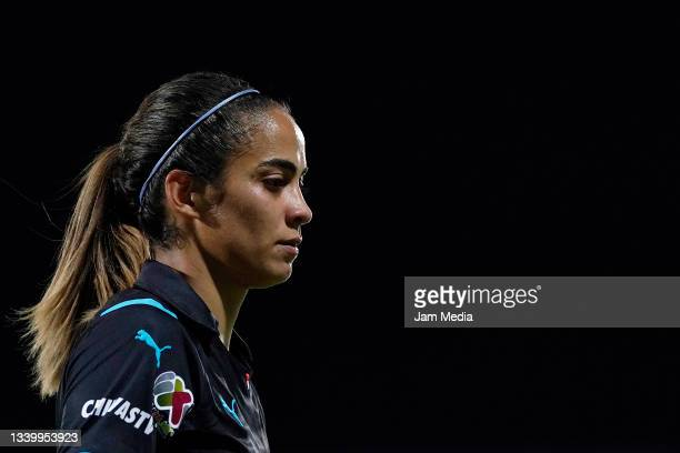 Christian Jaramillo of Chivas looks on during a match between Santos and Chivas as part of the Torneo Grita Mexico A21 Liga MX Femenil at Corona...