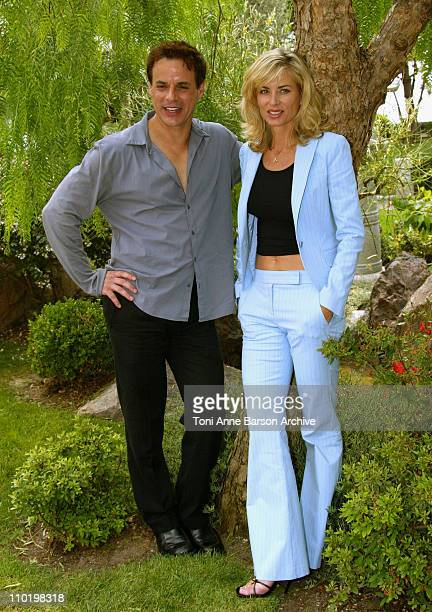 Christian Jules Leblanc and Eileen Davidson during 44th Monte Carlo Television Festival 'The Young and The Restless' Photocall at Japanese Gardens in...