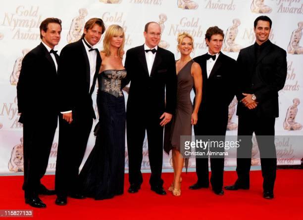 Christian Jules Leblanc Vincent Van Patten Eileen Davidson HSH Prince Albert of Monaco Victoria Pratt John Shea and Guest