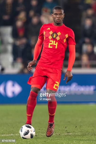 Christian Kabasele of Belgium during the friendly match between Belgium and Japan on November 14 2017 at the Jan Breydel stadium in Bruges Belgium