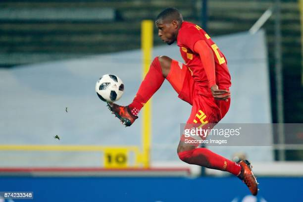 Christian Kabasele of Belgium during the International Friendly match between Belgium v Japan at the Jan Breydel Stadium on November 14 2017 in...