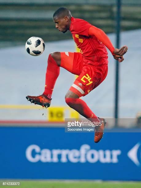 Christian Kabasele of Belgium during the International Friendly match between Belgium v Japan at the Jan Breydel Stadium on November 14 2017 in...